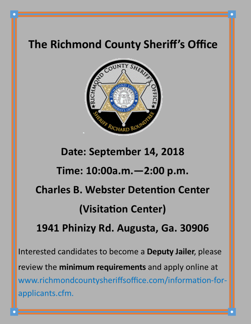 Community Information Richmond County Sheriffs Office
